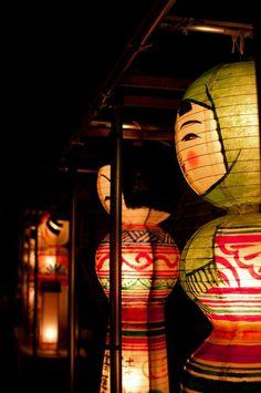 日本一のこけし灯ろう祭 Kokeshi Lantern Festival, Kuroishi, Aomori