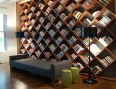 Custom Library - modern - wall shelves - miami - Dayoris Custom Woodwork