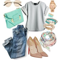 Outfits #style #denim #work #outfits