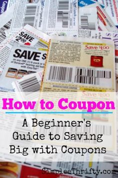 How to Coupon A beginner's guide to saving big with coupons Ways To Save Money, Money Tips, Money Saving Tips, Walt Disney World, Sunday Coupons, Living On A Budget, Frugal Living, My First Apartment, Wie Macht Man