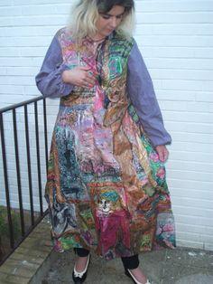 Handpainted Silkcoat in Größe L. von aminamarei auf Etsy