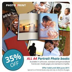 Preserve your memories perfectly with our range of photobooks. Offer ends 30th June 2017. #greatspecial #valueformoney