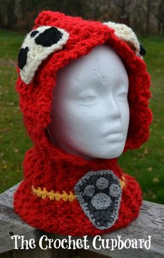 Help your child become one of the rescue dogs with this Paw Patrol Marshall Inspired Hooded Cowl.    Via Etsy.