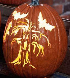 Haunted Tree Pumpkin