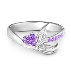 I Love Jewelry Sterling Silver Mystical Mermaid Ring Mermaid Ring, Mermaid Jewelry, Bridal Jewelry, Gold Diamond Wedding Band, Diamond Bands, Accesorios Casual, I Love Jewelry, Silver Jewelry, Silver Ring