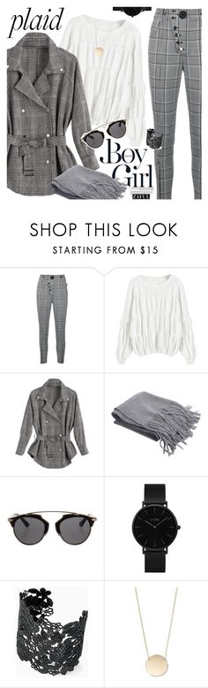 """Check It: Plaid"" by vanjazivadinovic ❤ liked on Polyvore featuring Alexander Wang, Boy Meets Girl, Christian Dior, CLUSE, Stella & Dot, plaid, polyvoreeditorial and zaful"