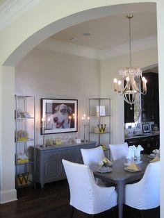 Benjamin Moore Decorators White | dining rooms - Benjamin Moore - Monterey White - dining, yellow ...