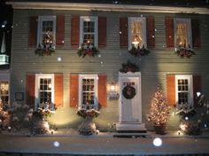 """Home for the Holidays""  KM Phelps from RMS. Beautiful late 1700's house decked out for the holidays."
