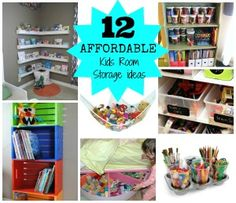 Lovely & Affordable Roundup - Some items from the dollar store. Affordable & Clever Storage Organization for Kids Rooms