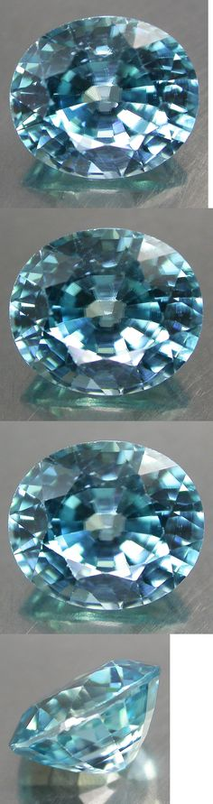 Zircon 10286: 3.68Cts. Huge Luster!! 100%Natural Nice Color Blue Zircon Ov Good Cut Sparkling BUY IT NOW ONLY: $69.99