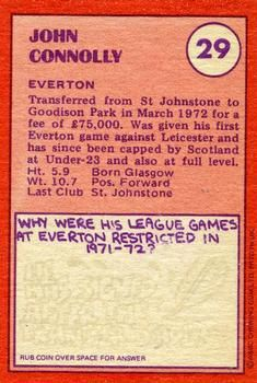 1974-75 A&BC Gum #29 John Connolly Back