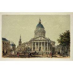 Gravure Paris En 1874 Le Pantheon Coll Canvas Art - (24 x 18)