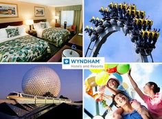 $169 for a 1-night hotel stay at a Wyndham Hotels & Resorts family property & 2 tickets to any US theme park (Value $340)