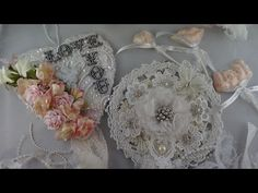 Altered Projects using Wedding Applique Scraps - YouTube