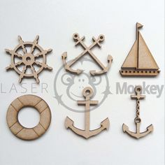 MDF Wooden Craft Shapes Anchors Yacht Ship Wheel Anchor Cross Chain Ribbon  in Home, Furniture & DIY, Home Decor, Plaques & Signs | eBay