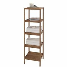Amazon.com: CreativeWare 5-Shelf Bamboo Tower: Bedding & Bath
