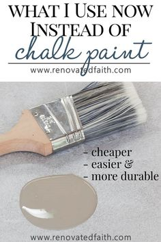 A Better Alternative To Chalk Paint (Best Type of Paint for Wood Furniture) The Best Alternative to Chalk Paint – SO much cheaper & easier! This furniture paint is easy to use and the tutorial shows techniques and unlimited color options. The tutorial al Types Of Painting, Diy Painting, Painting On Wood, Paint Types, Crackle Painting, Interior Painting, Furniture Projects, Furniture Makeover, Kitchen Furniture