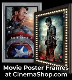 Movie poster frames with LED backlighting - the same ones the movie theaters use! Free shipping! #backlitmovieposterframes T Movie, Movie Theater, Movie Poster Frames, Movie Posters, Poster Display, Poster Making, Led, Free Shipping, Decor