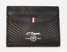 S.T. Dupont carbone leather two sided credit card holder, $150 at Endo Jewellers