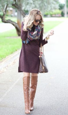 Sweater Dress and Blanket Scarf… [[MORE]]T-Shirt: Anthro, Cardigan: BP (obsessed wearing xs), Jeans: Ag, Booties: Vince Camuto, Hat: Janessa Leone, Andi's dress is Baby Gap her bow Happiness lives hereFashion  By A Spoonful Of Style