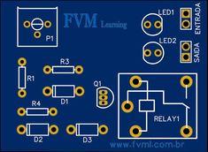 Carregador de Bateria 12V Simples, automático e com indicador de carregamento + PCI - FVML Bateria 12v, Battery Charger Circuit, Circuit Diagram, Arduino, Periodic Table, Simple, Raspberry, Printed Circuit Board, Printed Circuit Board