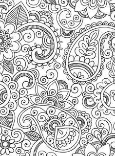 Amazing: Free printable adult coloring pages relaxing Paisley Coloring Pages, Mandala Coloring Pages, Coloring Book Pages, Coloring Pages For Kids, Doodle Patterns, Zentangle Patterns, Embroidery Patterns, Zentangles, Dibujos Zentangle Art