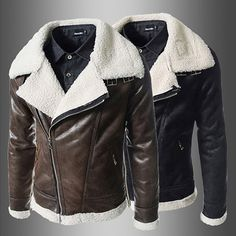 Sheep Fleece Biker Zip Mens Leather Jacket  . Shop Now At  http://sneakoutfitters.com/collections/new-in/products/sheep-fleece-biker-zip-mens-leather-jacket-ao-cybb-cbw-729-so120