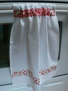 Kitchen tea towel, all dressed up!