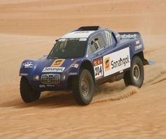 Desert rally driving.