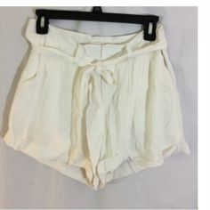 MM Couture Ivory lined shorts MM Couture Lined shorts size small Miss Me Shorts