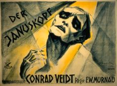 """German expressionism poster for """"The Head of Janus"""" starring Conrad Veidt. I am mad because I can't find this anywhere and I must watch it! >:( Is it true that it's lost?"""