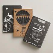 Parisian Steampunk Kraft Journals, 3-Pack