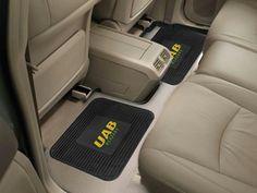 FanMats University of Alabama at Birmingham Backseat Utility Mats 2 Pack 14x17