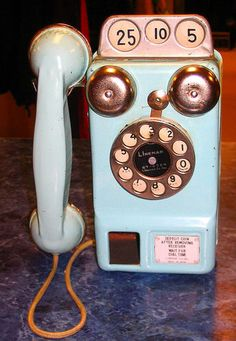 RARE Vintage 1954 Marx Blue Linemar Japan Tin Toy 3 Coin Pay Phone Telephone | eBay