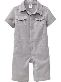 Pinstriped Coveralls for Baby