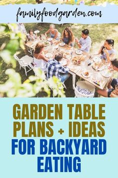 Here are the garden table plans and ideas for backyard eating. Eating outside has many benefits like enjoying the fresh air and eating around your plants. It's also easy to harvest some fresh veggies and prepare a healthy garden salad. Grab some fresh mint for your drinks and some flowers for the table and voila! Eating in paradise! Check this pin for more garden table and ideas! #gardentabledesign #gardentableideas #backyardeating Healthy Fruits And Vegetables, Veggies, Fresh Mint, The Fresh, Diy Garden Table, Garden Ideas, Mosquito Repelling Plants, Container Gardening, Flower Gardening