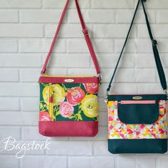 New Jasmine slung bag PDF pattern now available in my shop !!