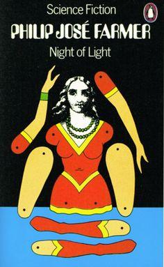 Phillip José Farmer, Night of Light, Penguin Books, Cover by David Pelham. Book Cover Art, Book Cover Design, Book Design, Book Art, Book Covers, Caricatures, Johannes Itten, Penguin Books Uk, Vintage Penguin