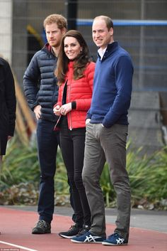Princes Harry and William with Catherine, Duchess of Cambridge.  February 5, 2017