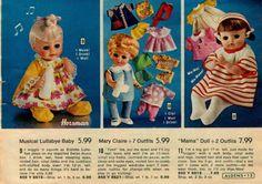 1973 Aldens NO MAKER name Dolls