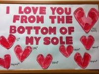 Valentine's Day Craft for Kids and Bulletin Board Idea