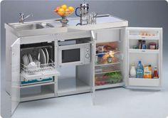 Mini cocinas compactas para pequeños espacios - Cocinas con estilo