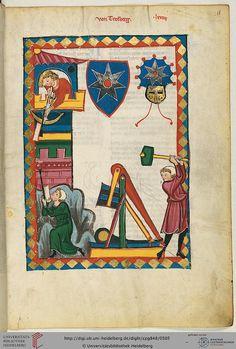 Cod. Pal. germ. 848  Große Heidelberger Liederhandschrift (Codex Manesse)  Zürich, ca. 1300 bis ca. 1340 Folio: 255r