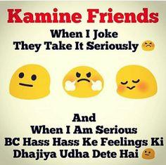 Sale kamine ulta hi karta hai Best Friend Quotes Funny, Funny Attitude Quotes, Besties Quotes, Funny Quotes, Friend Jokes, Motivational Quotes, Inspirational Quotes, Very Funny Memes, Funny School Jokes