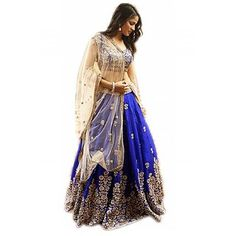 Women's Embroidered Bangalori Satin Silk Lehenga Choli With Soft Net Dupatta Blue Lehenga, Silk Lehenga, Bridal Lehenga, Forever New Dress, Indian Anarkali, Pakistani, Capsule Outfits, Lehenga Choli Online, Maxi Gowns