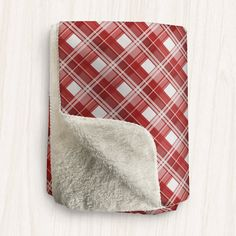 Home decor for your inner happy! Red and White Plaid Sherpa Fleece Throw is the #homedecor to have in your home.   This classic plaid Sherpa fleece throw is designed with a red and white plaid pattern, with a super soft Sherpa material on the other side. It will keep you cozy and warm while you snuggle up in it. It's available in 2 sizes so you can find the perfect fit for you. It's the perfect Sherpa fleece throw blanket for people who like plaid patterns and like the color red. Get this…