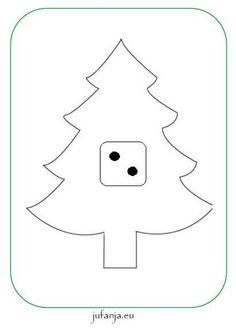 Kleikaarten kerst met dobbelsteenstructuur (t/m 6)