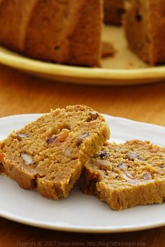 Persimmon Bread.  Making this right now with the persimmons from my BB.