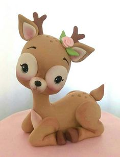 Horns and shading - Horns and shading Horns and shading Horns and shading Welcome to our website, We hope you are satis - Polymer Clay Animals, Cute Polymer Clay, Cute Clay, Fimo Clay, Polymer Clay Projects, Crea Fimo, Fondant Animals, Clay Ornaments, Clay Figures