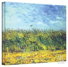 Vincent van Gogh 'Green Wheat Fields' Wrapped Canvas Art Stretched Canvas Print by Vincent van Gogh at Art.com48 x 36 $159.99